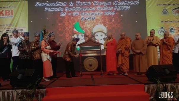 Pembukaan Sarasehan Temu Karya Nasional 2020 Pemuda Buddhayana Indonesia Sekber PMVBI. (dok/SRc)
