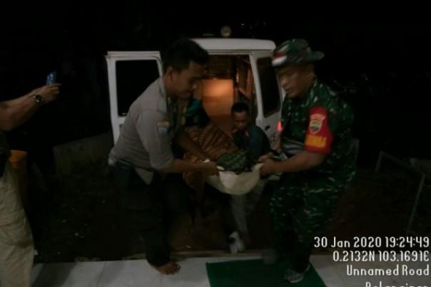 Darmawan (42) Korban terkaman Harimau saat dievakuasi ke klinik KPP Pulai PT THIP. Foto: dok Polres Inhil.