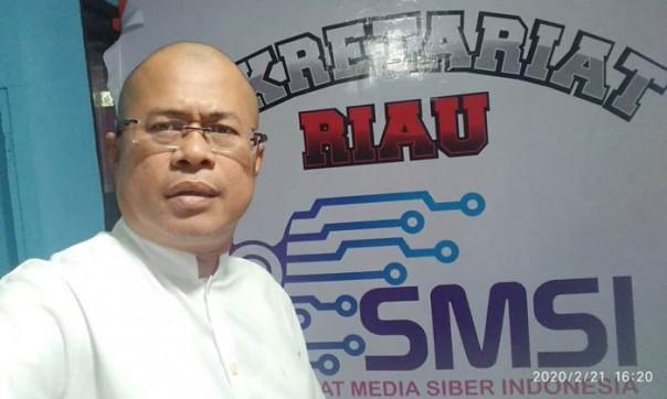 Ketua Serikat Media Siber Indonesia (SMSI) Provinsi Riau, Novrizon Burman./ist