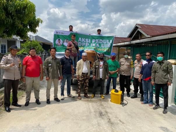 DPP IKA UIR menurunkan relawan basmi covid 19/IST