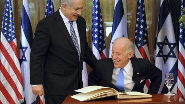 Benyamin Netanyahu (kiri) dan Joe Biden (kanan)