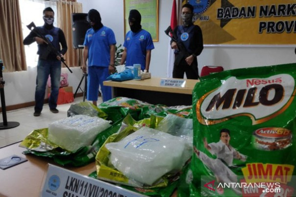 Barang bukti Milo berisi sabu-sabu yang diungkap BNN Riau beberapa waktu lalu./ant