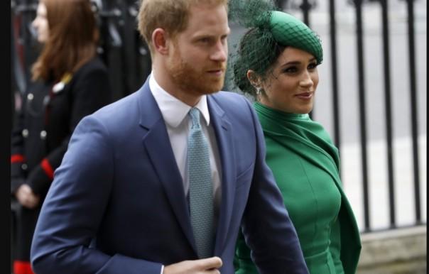 Harry dan M3ghan Marilah dalam sebuah acara di London beberapa bulan lalu.