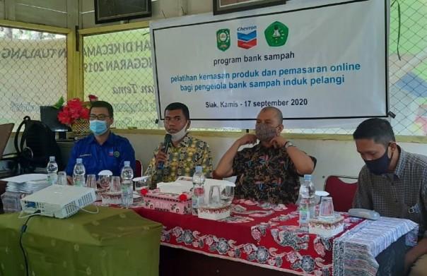 PT Chevron Pacific Indonesia (PT CPI) mengadakan pelatihanmarketing onlinebagi Bank Sampah Induk Pelangi (BSIP) Siak dan bank sampah unit lainnya di Mandau dan Rumbai pada pertengahan September lalu
