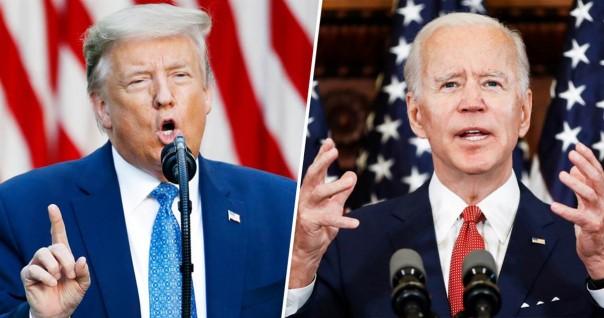 Incumbent Kandidat Presiden Amerika dari Partai Republik Donald Trump dan Kandidat Presiden Amerika Joe Biden dan Partai Demokrat.