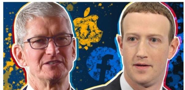 Tim Cook dari Apple dan Mark Zuckerberg dari Facebook