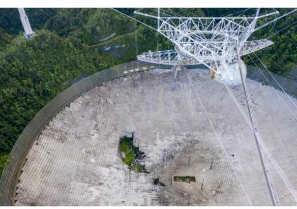 Observatorium Arecibo di Puerto Rico ditutup pada November 2020 setelah kerusakan membuatnya berbahaya [File foto/ AFP]