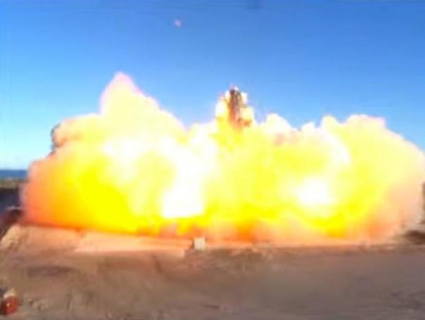 Ledakan! Starship menyentuh landasan pendaratan dan meledak. SPACEX