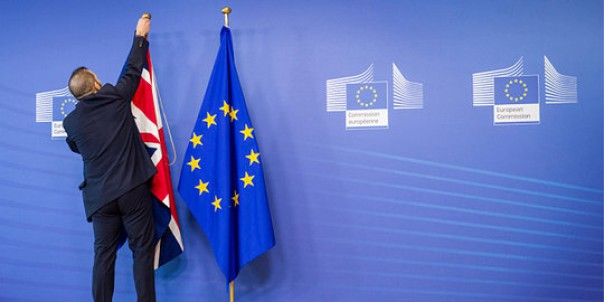 Pudarnya kesatuan Eropa.(ilustrasi lambang UE)