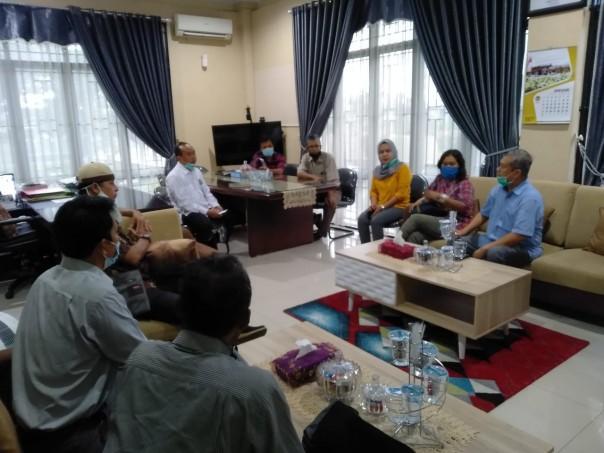Pertemuan Panitia HPN 2021 Provinsi Riau dengan BPDASHL Inrok KLHK, Rabu (13/1/2021). (istimewa)