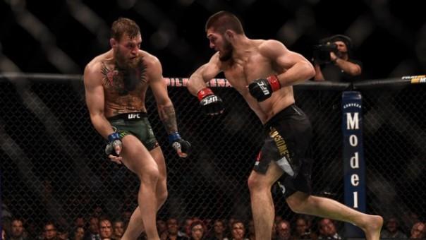 Laga terakhir antara Conor McGregor versus Khabib Nurmagomedov, ajang UFC 229 pada 6 Oktober 2018 silam. Foto: getty images