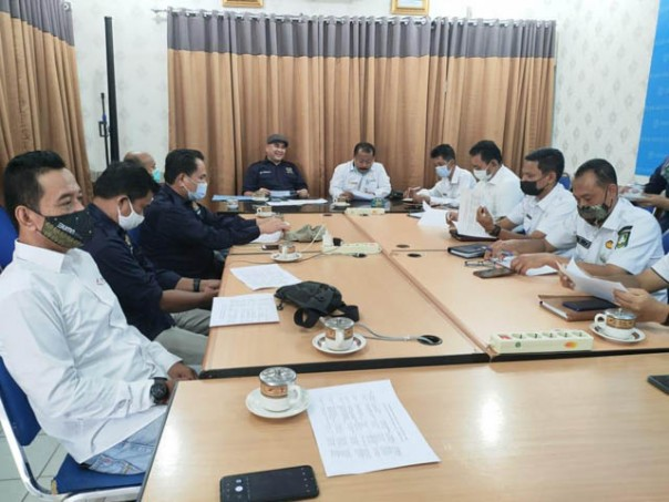 Rapat bersama Pemerintah Kabupaten (Pemkab) Bengkalis di Kantor Diskominfotik, Rabu (03/02/2021)./ist