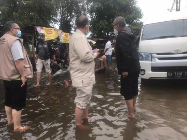 Wakil  Gubernur Sumatera Barat, Nasrul Abit mengujungi Mamuju,l Sulbar dan para Rabu  (3/2/2021) langsung berangkat ke Kalimantan Barat. (Sumber Foto Classy Radio FM)