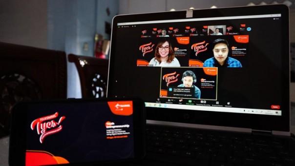 Executive Vice President West Area Telkomsel Gilang Prasetya menyampaikan sambutannya dalam webinar kegiatan Telkomsel Youth Entrepreneur Squad (T-Yes)/ist