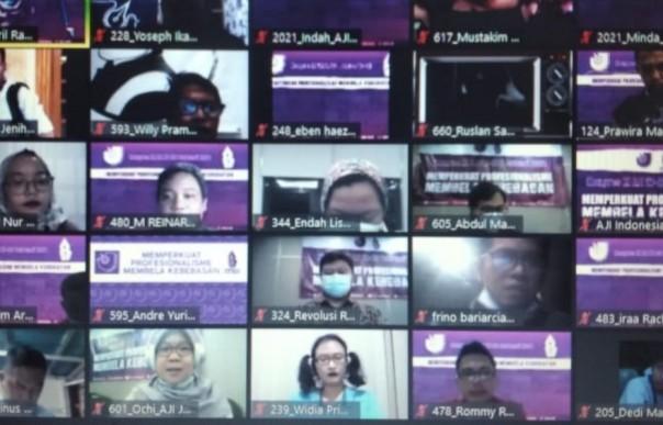Kongres Nasional AJI dilaksanakan secara virtual ysng diikuti 350 peserta, 27-28 Februari 2021