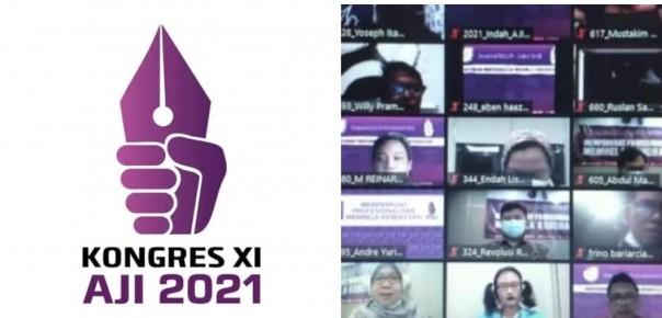 Hasil Kongres XI AJI Tahun 2021 memilih Ketua Umum dan Sekjend AJI periode 2021-2024 Pasangan Sasmito Madrim Dan Ika Nngtyas