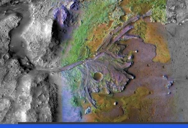 Penjelajah terbaru NASA akan mengeksplorasi fitur geologi yang disebut delta, yang dibangun di hadapan air yang mengalir. (Foto: BBC)