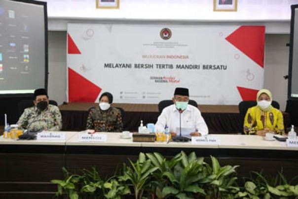 Keterangan pers usai rakor membahas mengenai kebijakan mudik lebaran tahun 2021, Jumat (26/03/2021).