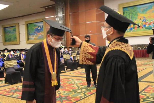 Sidang Senat Terbuka Wisuda Sarjana LXII dan Pascasarjana XII yang digelar di hotel Labersa Pekanbaru.  /ist
