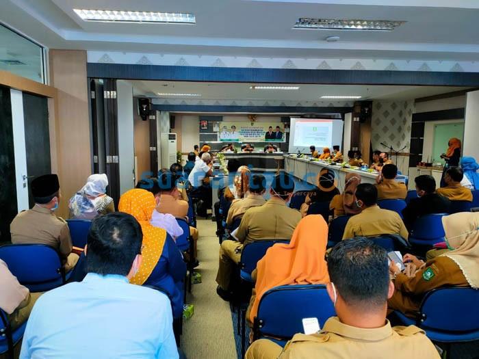 Rapat pengendalian inflasi jelang Ramadhan 1442 Hijriyah yang digelar Disdagperin Bengkalis/ist