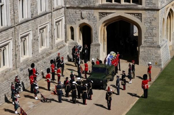 Prosesi pemakaman Pangeran Philip.(int)